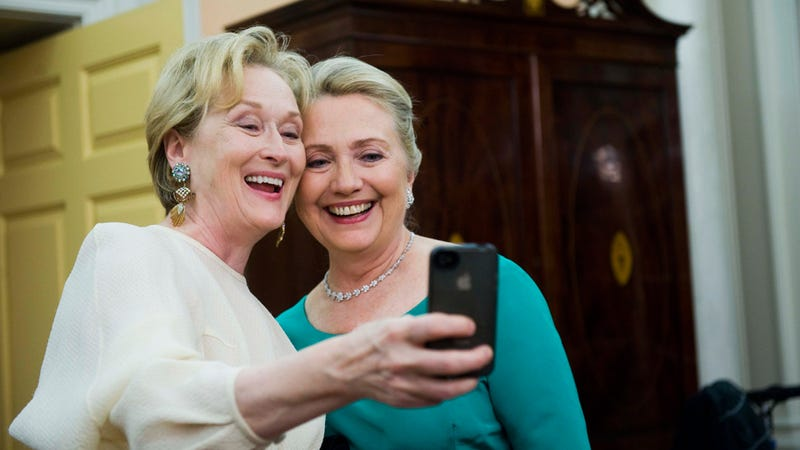 What Meryl Streep and Hillary Clinton's BFF Selfie Photo (Probably) Looks Like