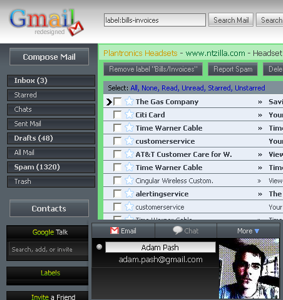 Darken Gmail with Gmail Redesigned