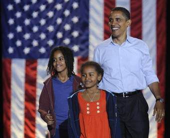 School Days: Misses Malia & Sasha Go To Washington