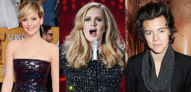 Excuse Me Jennifer Lawrence, Adele, and Harry Styles: Pipe Down!