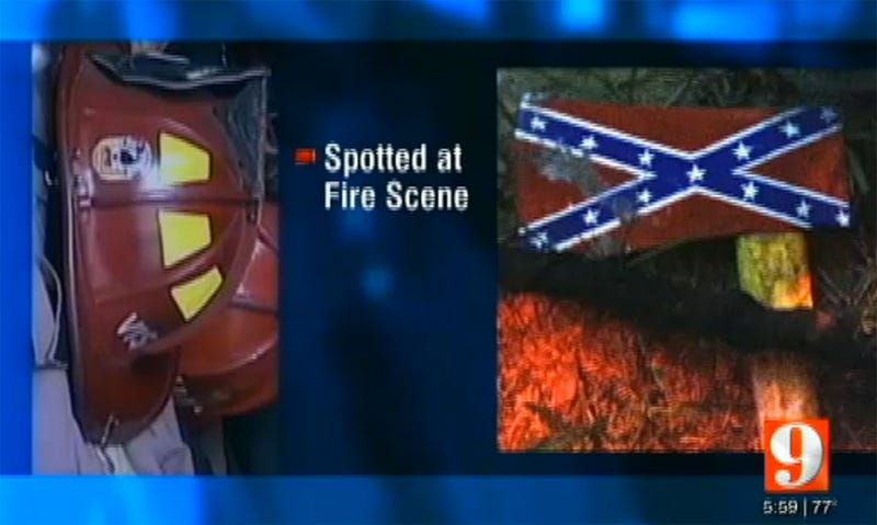 Firefighter Leaves Confederate-Flag Ax at Black Man's Burning House