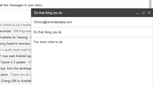 ReminderBaba Sends Follow Up Reminders with a Custom Email Address