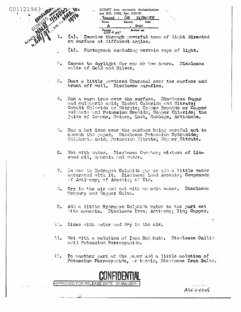 Declassified WW1 Document 4 Gallery