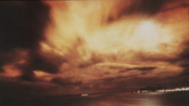 An aurora caused by an atomic bomb