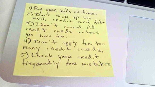 Everything You Need to Know About Managing Credit on One Post-It Note