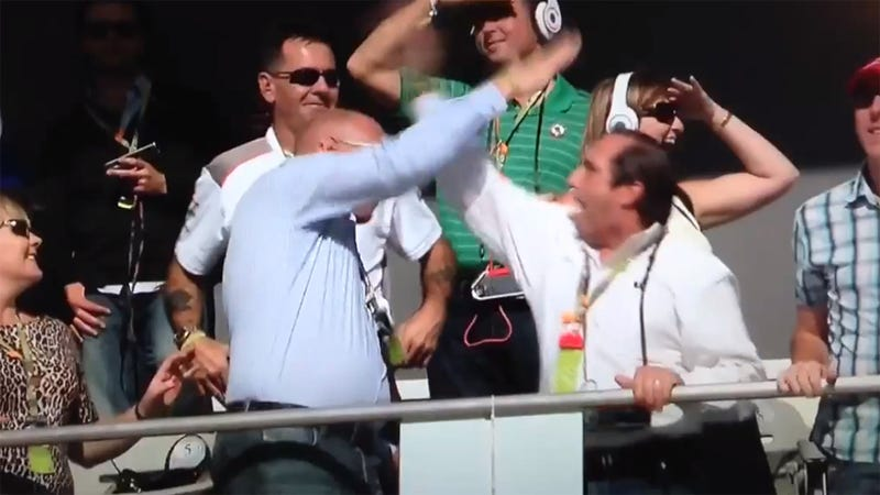 Racing's Worst High Five Caught On Camera