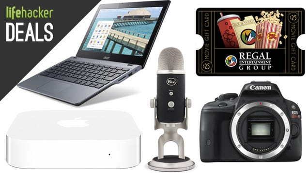 Deals: Haswell Chromebook, Blue Mics, Cheap Canons, Gift Cards Galore