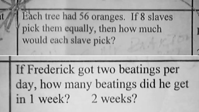 Slavery Probably Not the Best Subject for Third-Grade Math Word Problems