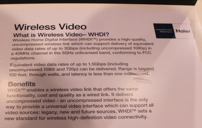 Haier's Completely Wireless TV Hands On: No Cables For Video... or Power