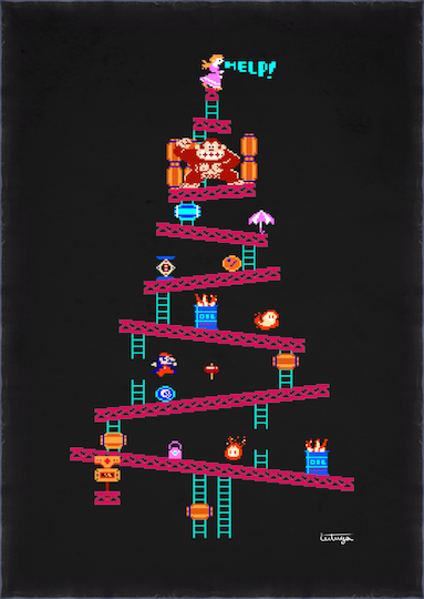 Don't Have A Christmas Tree? Hang This Donkey Kong One Up On Your Wall.