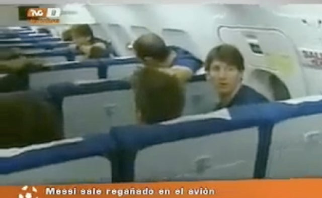 Lionel Messi Got A Stern Talking-To For Breaking An Airplane Wall (With Video)