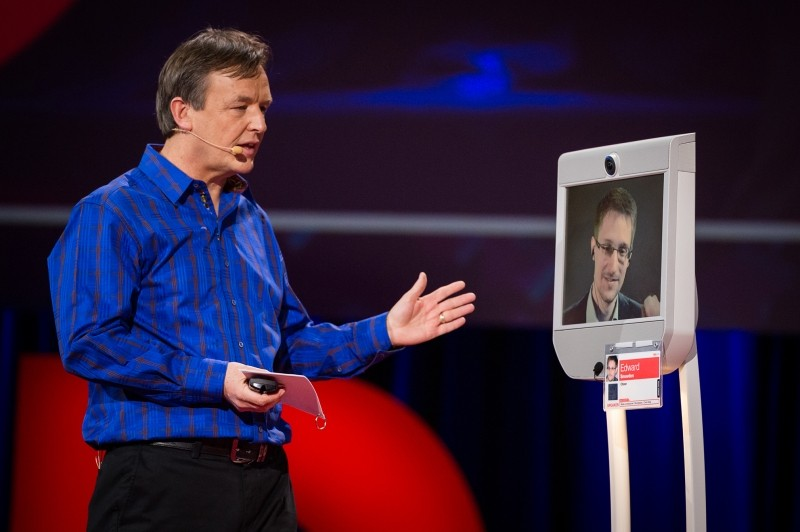 Robot Edward Snowden Rescued a Reporter When She Had a Seizure