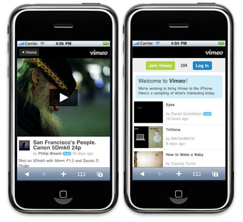 Vimeo Videos Get Friendly With iPhones and Android