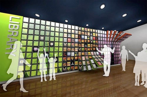 Wall Of iPads Could Be Used In Libraries To Display iBooks, Just Like This Concept Rendering