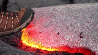 ¿Qué ocurre si pisas lava?