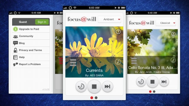 Focus@Will Streams Productive Music to Your iPhone