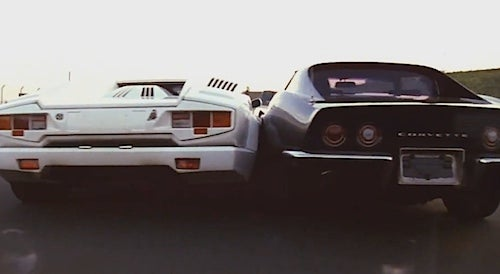 '69 Corvette And '88 Lamborghini Horrifyingly Swap Paint In Japanese Gran Turismo Ad