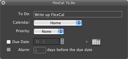 FlexCal Adds iCal Events and Tasks Instantly