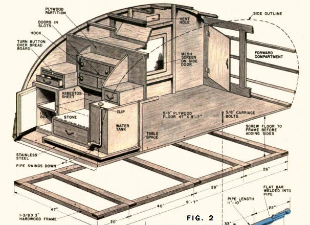Build Your Own Rv With Kits Plans For Teardrop Trailers | Autos Post