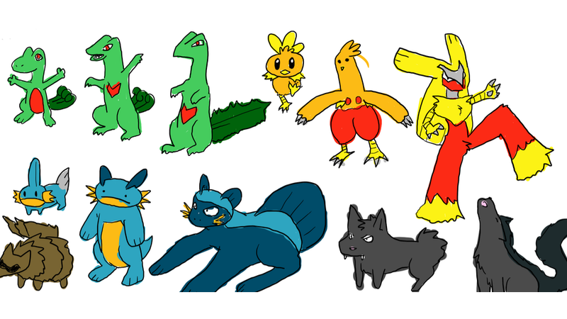More Pokemon Drawn From Memory, Without Erasing