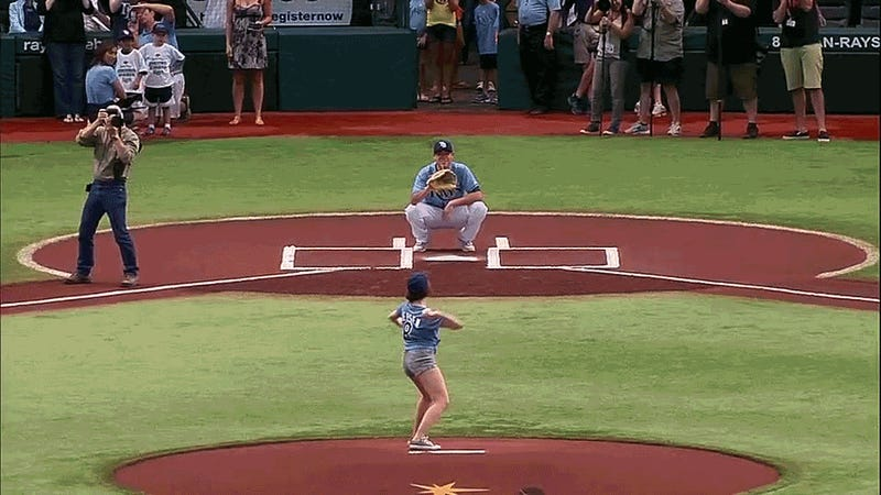 Carly Rae Jepsen's First Pitch For the Rays Today Was The Fucking Worst