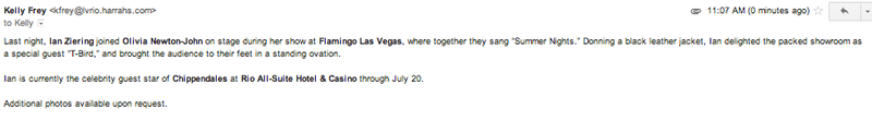 Saddest PR Email of the Day?