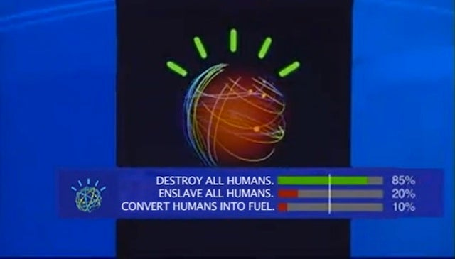 Self-Aware Jeopardy Computer Plots the Destruction of all Humans
