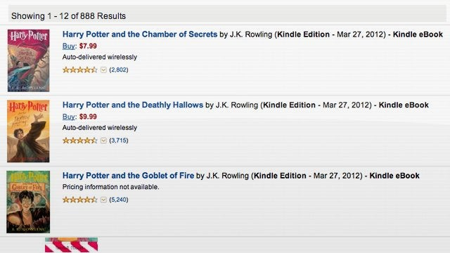 Did Harry Potter Demand Just Take Down the Amazon Kindle Store? (Updated)