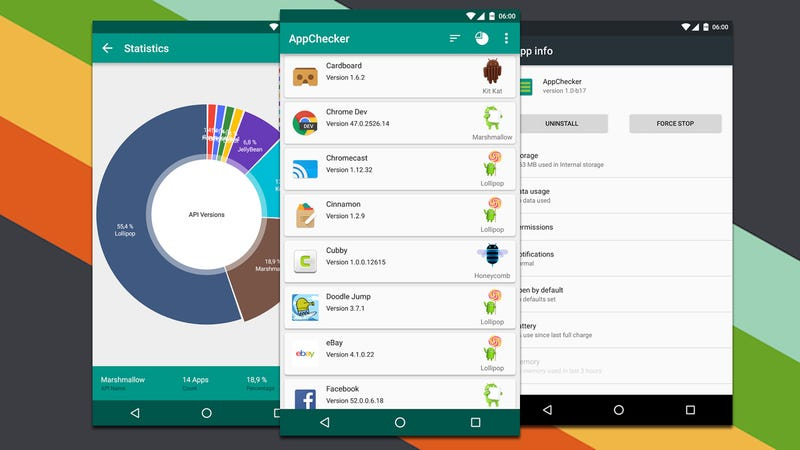 how to find version versions of android app