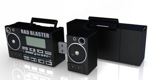 Rad Blaster Mini Boombox is the Freshest MP3 Player and Flash Drive Around