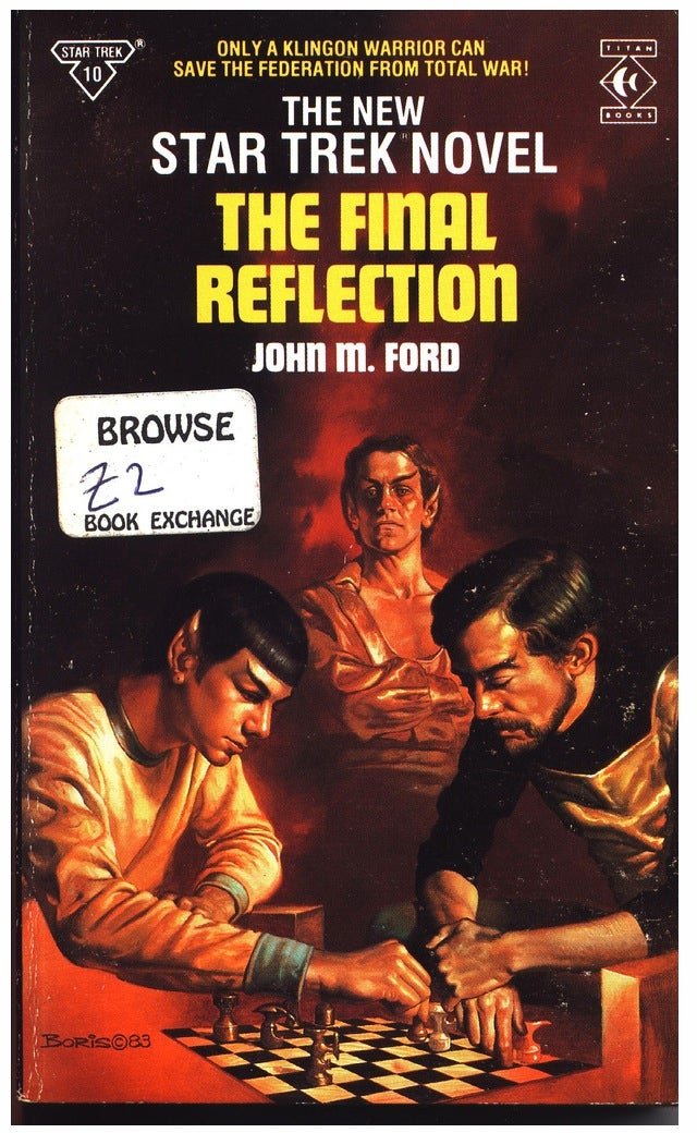 There is something truly odd about Spock on the cover of this classic Star Trek novel