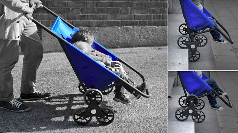 This Six-Wheeled Stroller Can Roll Up and Down Stairs