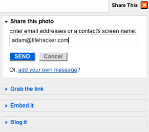 Quickly Share Flickr Pics or Video via Email