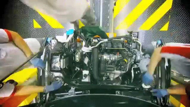Cool Timelapse Shows How A Car Is Built In Under Two Minutes