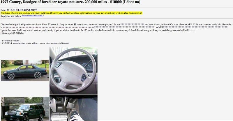 You Pick The Winner Of The Worst Online Car Listing Contest!