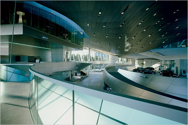 Welcome to BMW Welt, Where Corporate Whoring Meets Pretty Architecture