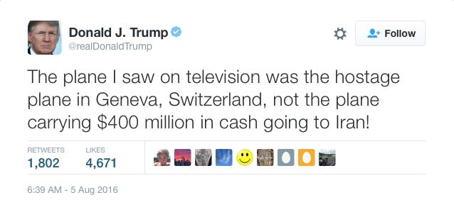 Donald Trump Admits Mistake