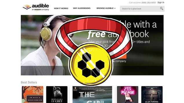 Most Popular Audiobook Service: Audible