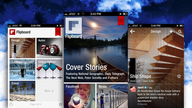 "Flipboard Updates, Launches New iPhone App with New ""Cover Stories"" Section"