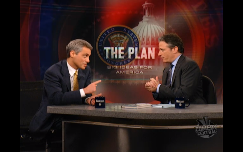 Rahm Emanuel and The Daily Show Are Now At War Over Pizza