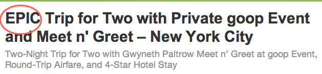 This $2000 Groupon Buys You Access to Private Goop Crap With Gwyneth