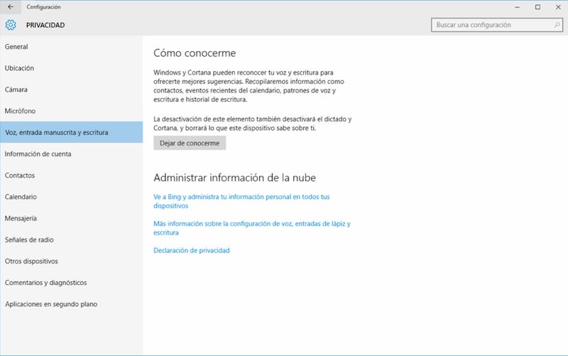 Todo lo que hay que desactivar en Windows 10 para proteger tu privacidad