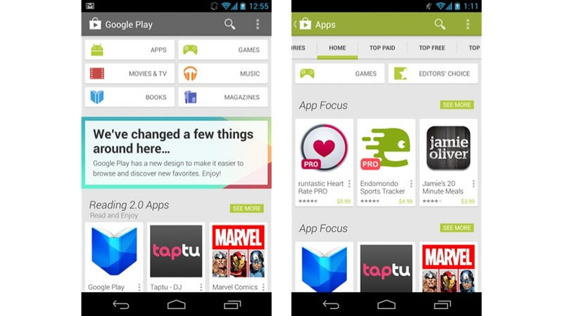A Quick Look at Google Play's Android Overhaul