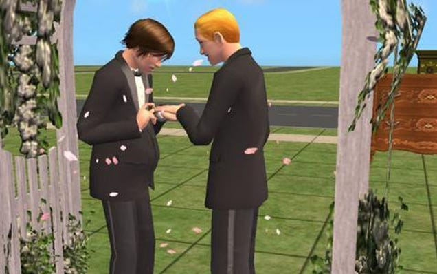 The Sims 3 makes full-on gay marriage a virtual reality