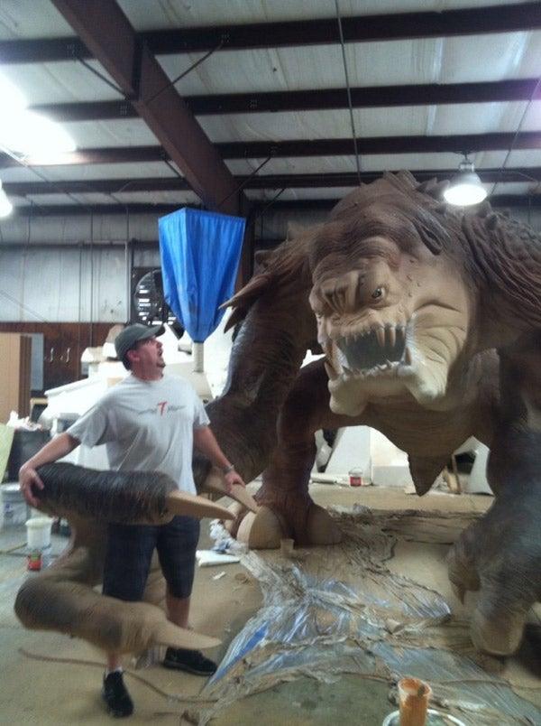 Meet Roxy the Rancor, the 501st Legion's life-sized Star Wars sculpture