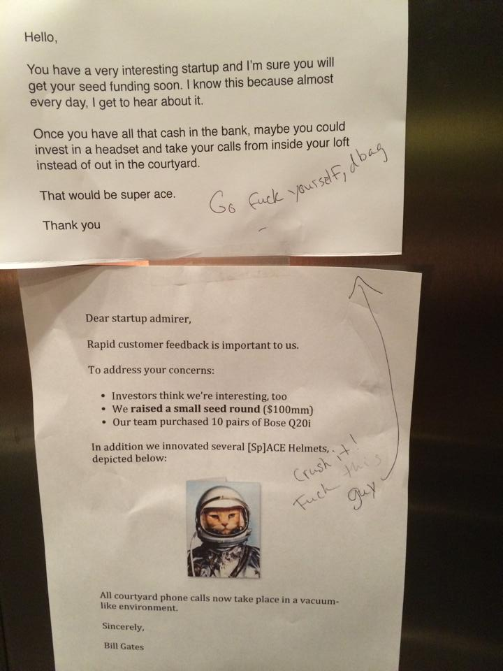 Passive Aggressive Notes, the Silicon Valley Way