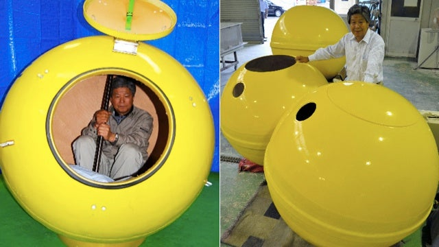 Get Ready for the Next Natural Disaster By Hiding Inside a Giant Yellow Floating Ball