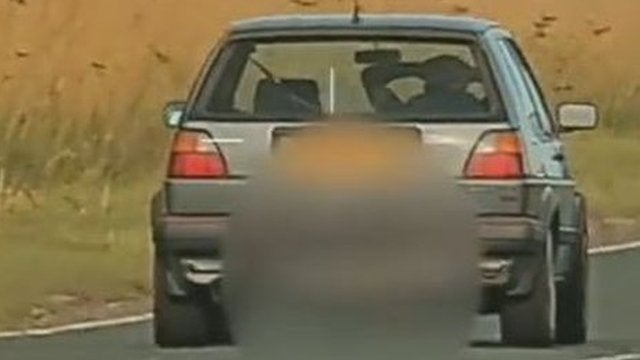 British Man Caught Driving With His Hands Behind His Head
