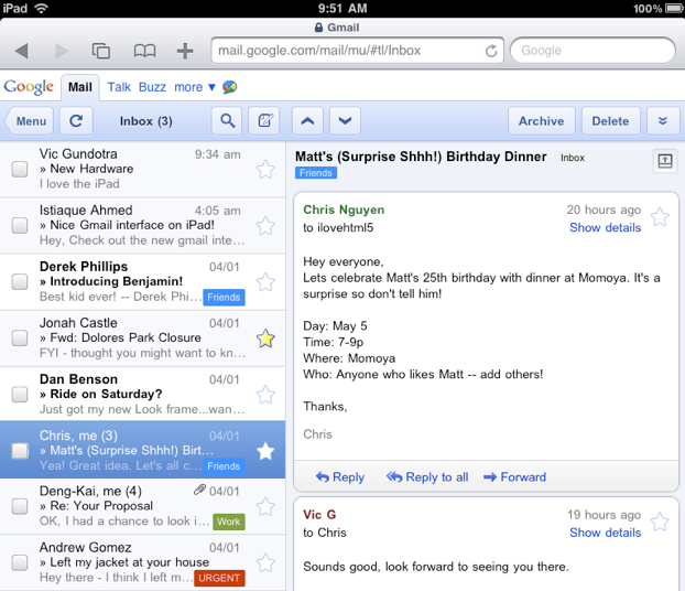 How to Use Gmail's Attractive New Tablet-Friendly Interface on Your Regular Old Computer