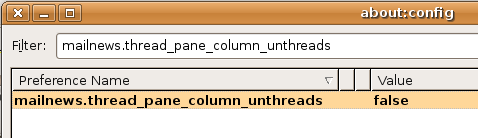 Maintain threaded view in Thunderbird